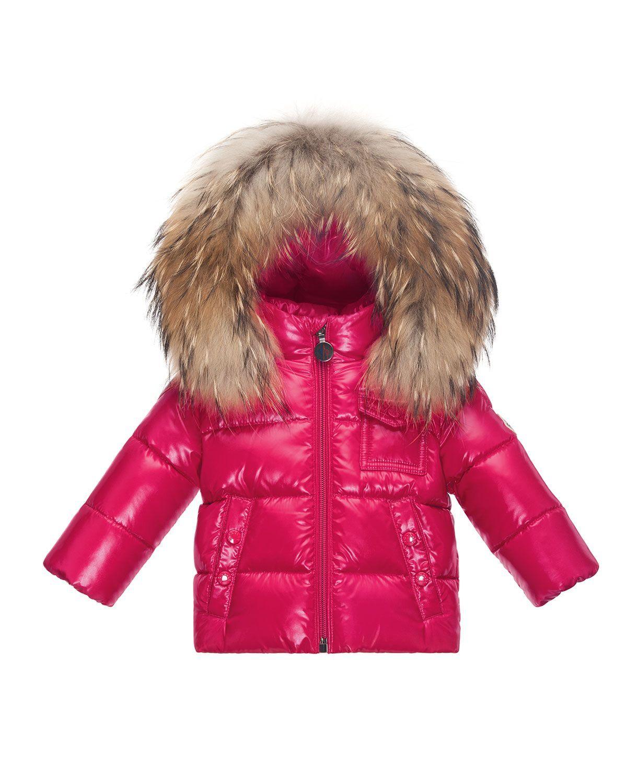 efda2109c K2 Hooded Fur-Trim Puffer Coat
