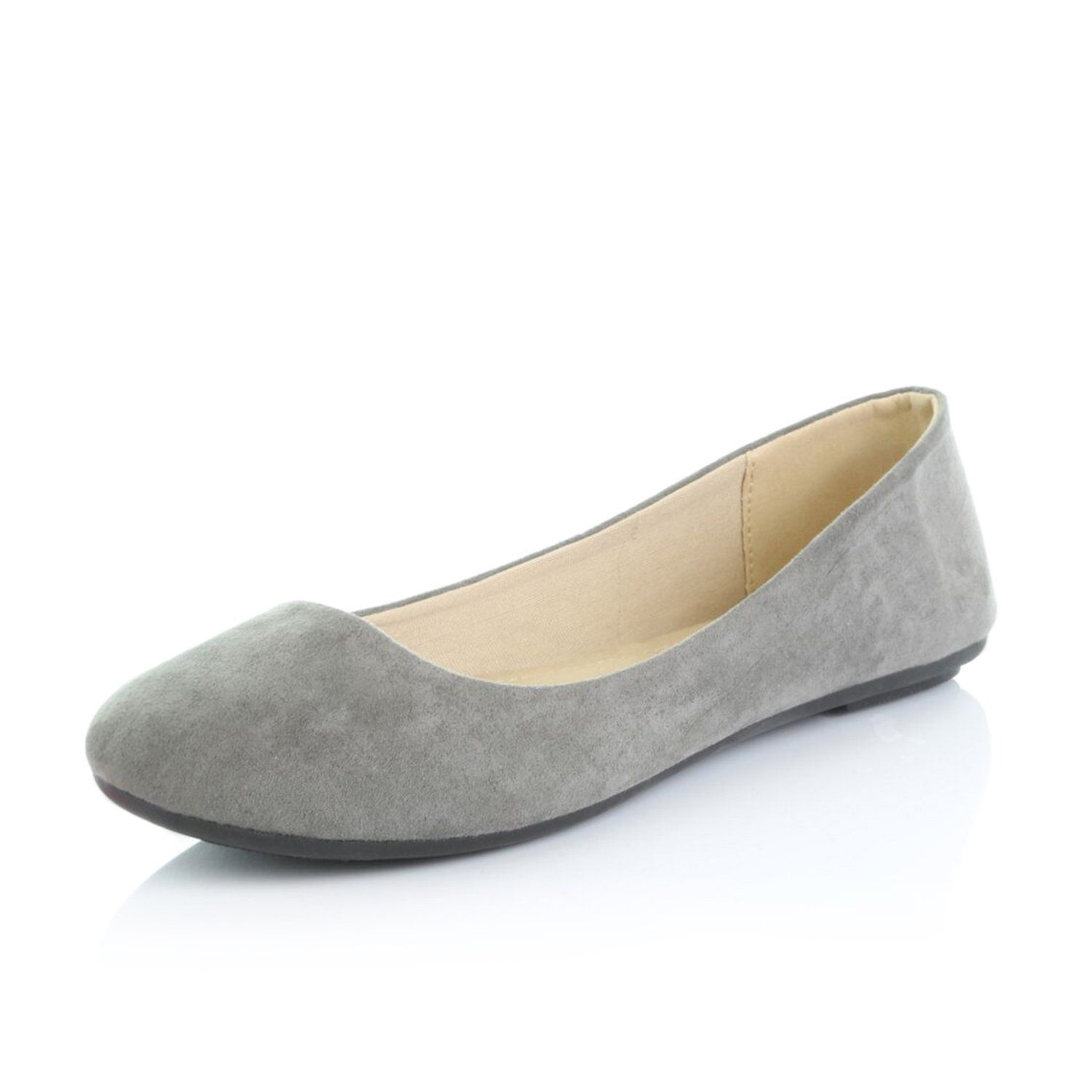 DailyShoes Womens Comfortable Soft Round Toe Flat Slip-on Fashion Loafer Shoes