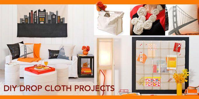 DIY Drop Cloth Projects