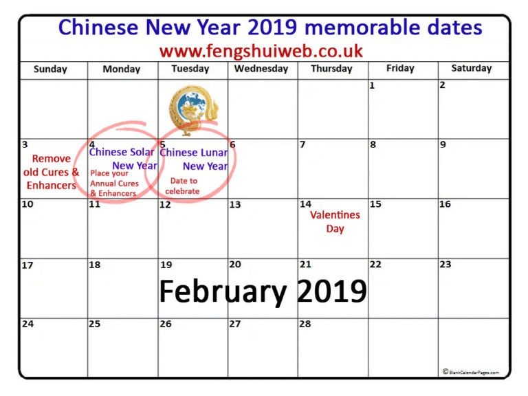 Chinese New Year Feng Shui 2019 Everything You Need To Know And So Much More How To Memorize Things Chinese New Year Creative Calendar