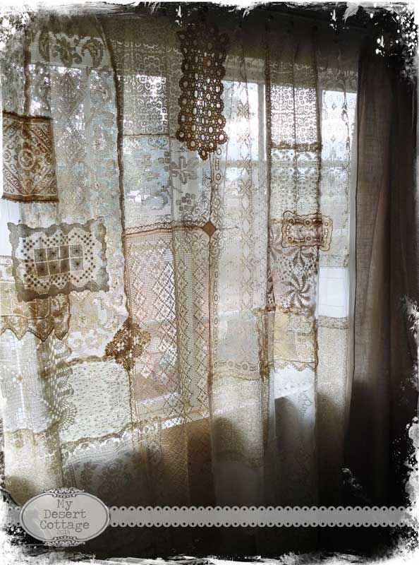 Love These Curtains Made With Various Pieces Of Lace