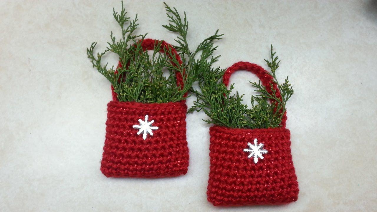 Crochet easy bag o day crochet christmas ornament tutorial
