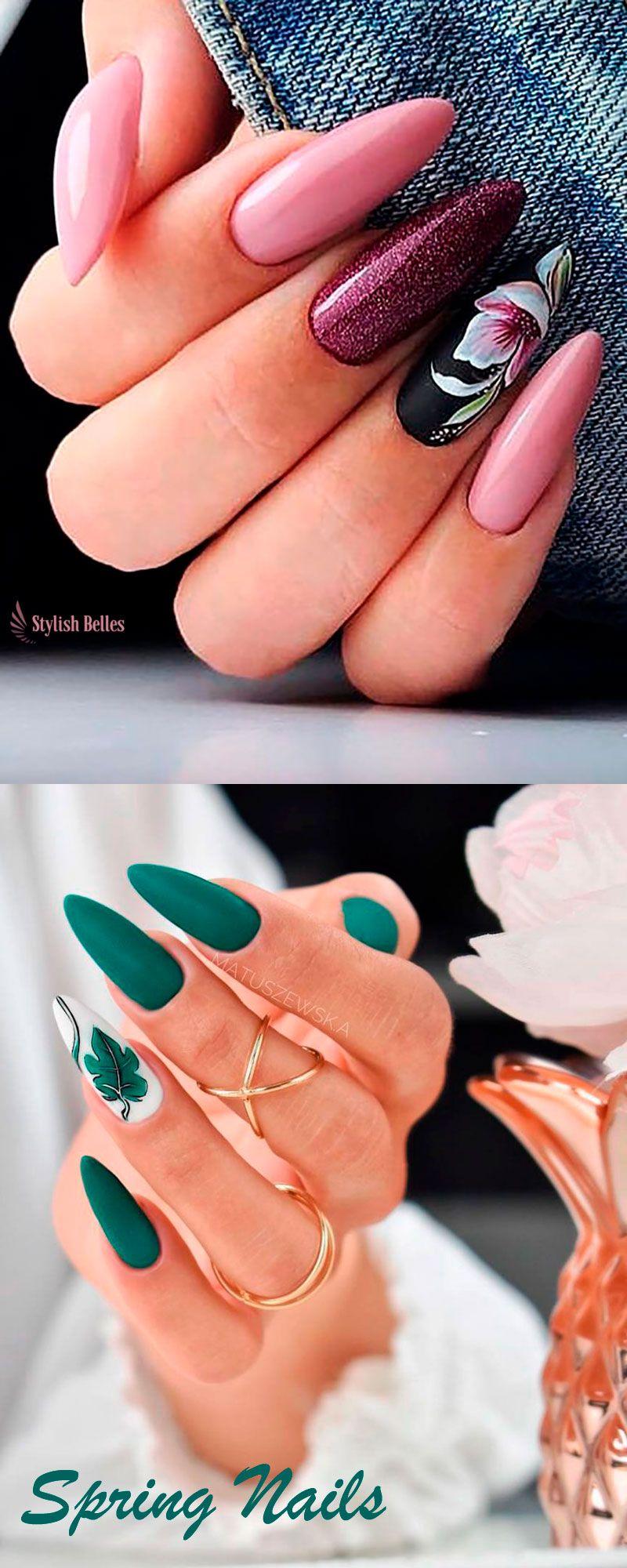 Best Nails Ideas For Spring 2019 Ladne Paznokcie Paznokcie I