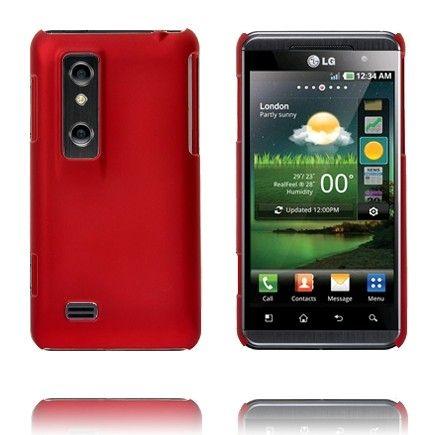 Hard Shell (Punainen) LG Optimus 3D Suojakuori