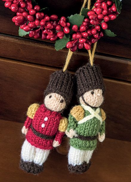 Who doesn't love Christmas! Knit these irresistably cute toy soldiers to decorate your home or give as great, festive gifts. The pattern is suitable for knitters of all abilities. #knitteddollpatterns