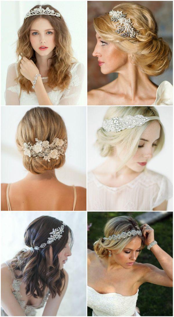 Braut haarband frisur  Silber Braut Haarband Kristall Perle Kopfschmuck 2015 Braut ...