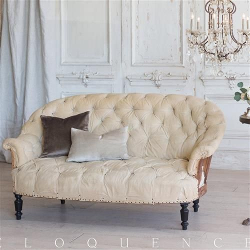 Eloquence French Country Style Antique Sofa: 1880 in 2018 ...