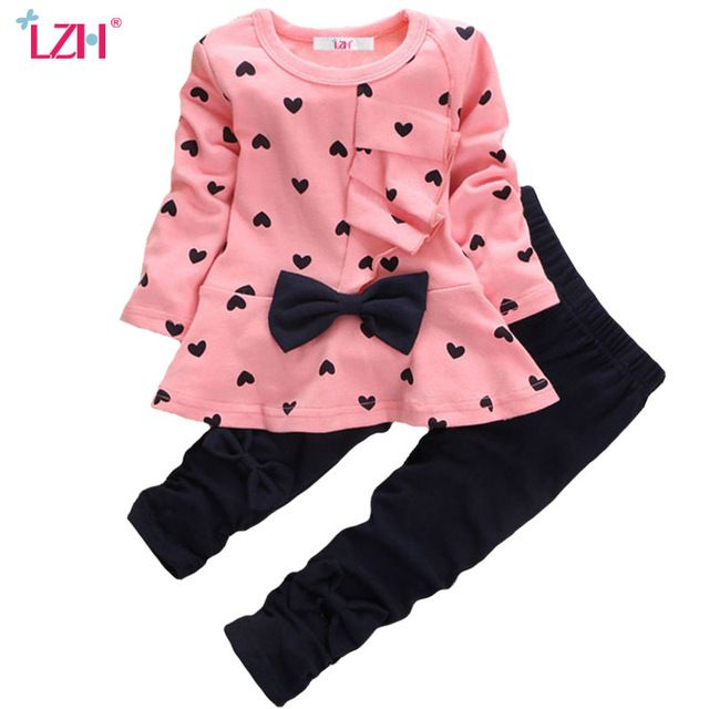 f80c902ae71b LZH Newborn Clothes 2017 Autumn Winter Baby Girls Clothes Long Sleeved T- shirt+Pants Christmas Outfit Baby Infant Girls Clothing