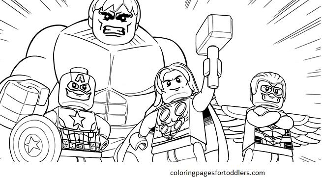 Avengers Lego Coloring Pages