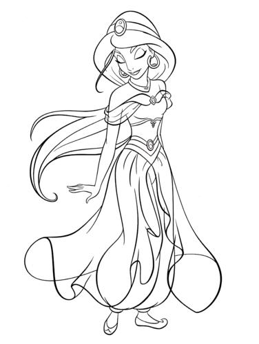 Walt Disney Coloring Pages - Princess Jasmine - walt-disney ...