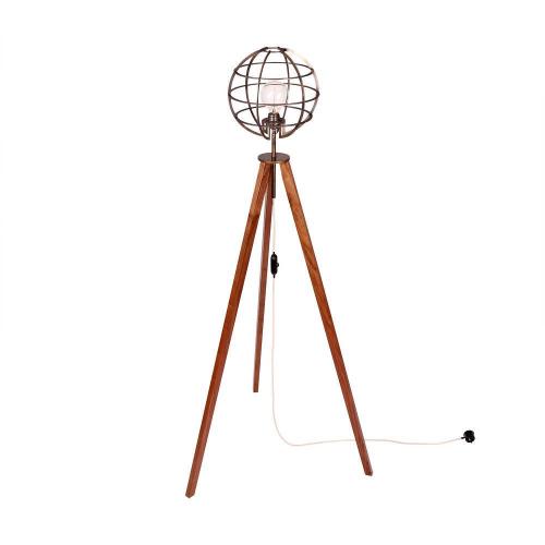 Handgefertigte Tripod Stehlampe Mit Einem Messingkonstrukt Und 3 Beinen Aus Nussbaum Ein Echtes Schmuckstuck Um Eine E27 Fass Stehlampe Lampe Wohnaccessoires