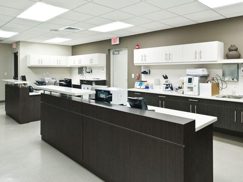 Clinical work zone family medicine clinic design