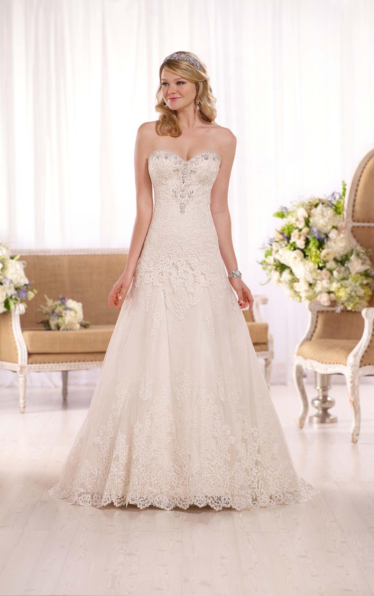 Essense wedding dress  This effortlesslybeautiful Aline wedding gown from Essense of
