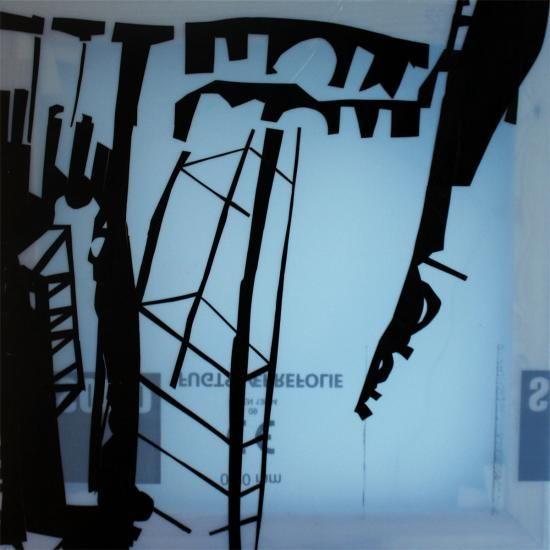 A Japanese Home 14 - Kunstner, Kunstmaler, Illustrator, Thomas Dausell, Maleri, Abstrakt, Bygninger, : www.artunika.dk / www.artunika.com A Japanese Home 14 - 50 x 50 cm. Plastik på plastik. Et originalt maleri af Thomas Dausell....