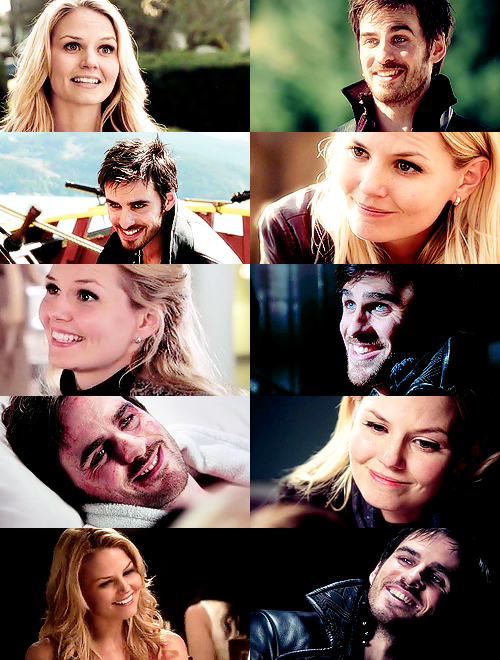 Captain Swan Smiles part 1... AND NOW ITS CANON I JUST CANT