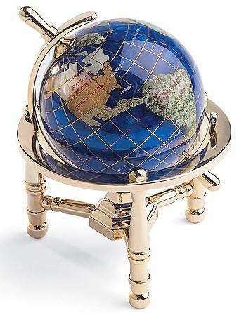 Caribbean blue nautical gemstone world globe free shipping caribbean blue nautical gemstone world globe free shipping gumiabroncs Image collections
