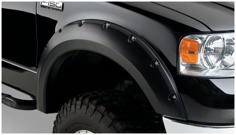 Bushwacker ford lincoln pocket style fender flare set of 4 amazon com