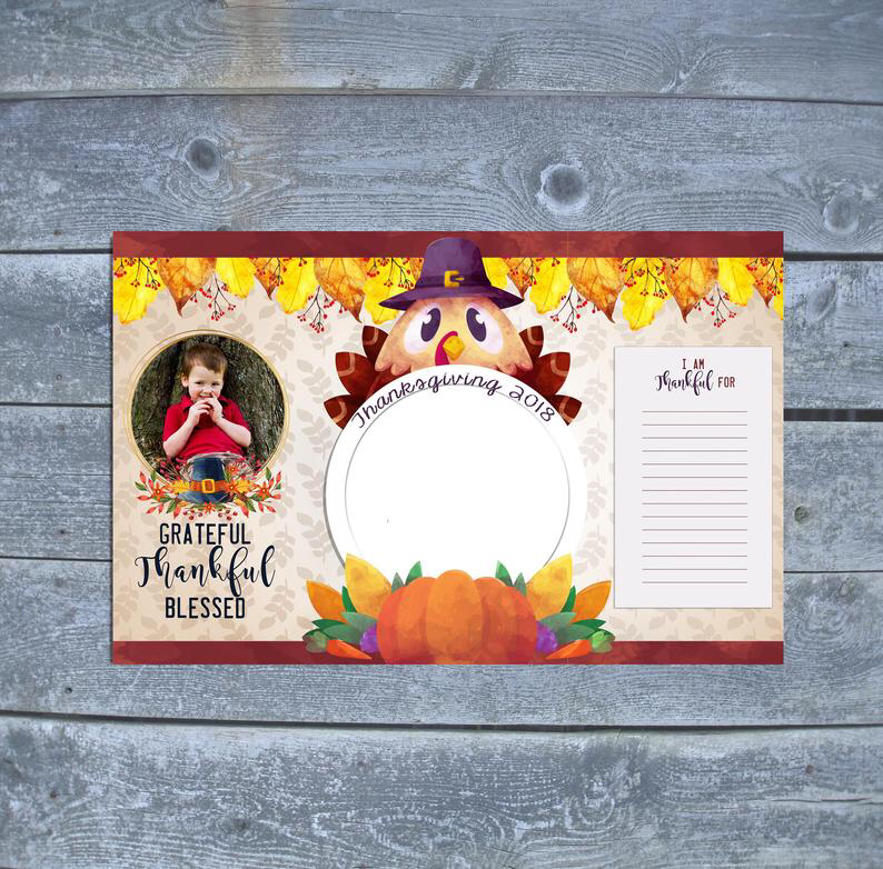 Thanksgiving Placemat - Thanksgiving Craft for Kids - Thanksgiving Turkey Decor - Thanksgiving Gift - Download or custom #thanksgivingplacematspreschool Thanksgiving Placemat Thanksgiving Craft for Kids   Etsy