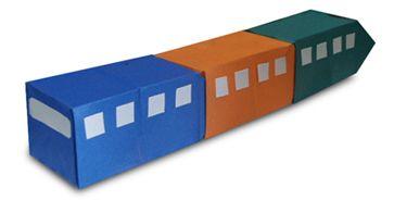 Origami A Train Instruction