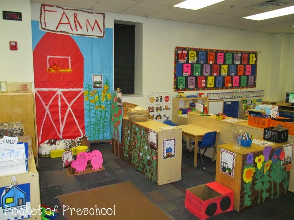 Classroom Center Ideas : Farm in the dramatic play center centers