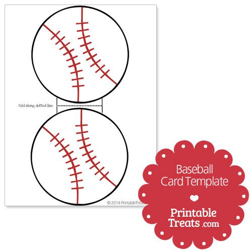 Printable Baseball Card Template from PrintableTreats.com | Baseball ...