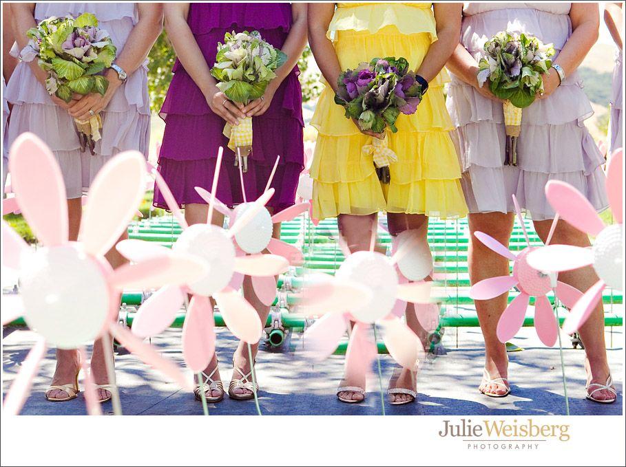 Wedding at Cornerstone Sonoma - Daisy Border garden. Photo by Julie Weisberg Photography.