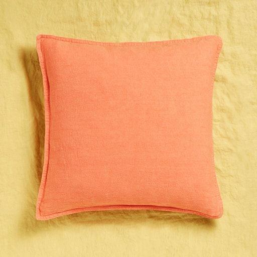 Bild des Produktes Kissenbezug aus gewaschenem Leinen Wohnzimmer - wohnzimmer rot orange