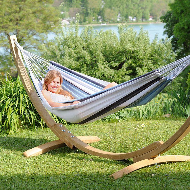 the apollo marine garden hammock set is a fabulous outdoor garden hammock consisting of the salsa marine coastal stripy hammock and sturdy wooden hammock     amazonias apollo hammock and wooden stand   spa furniture      rh   pinterest