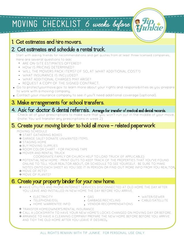 Moving Checklist Moving Pinterest Apartment ideas - checklist for moving