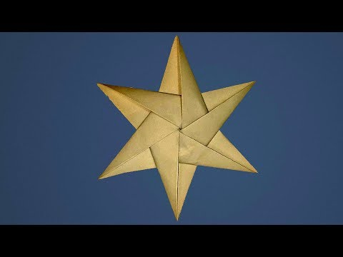 How to make paper stars - paper folding - christmas crafts - YouTube   360x480
