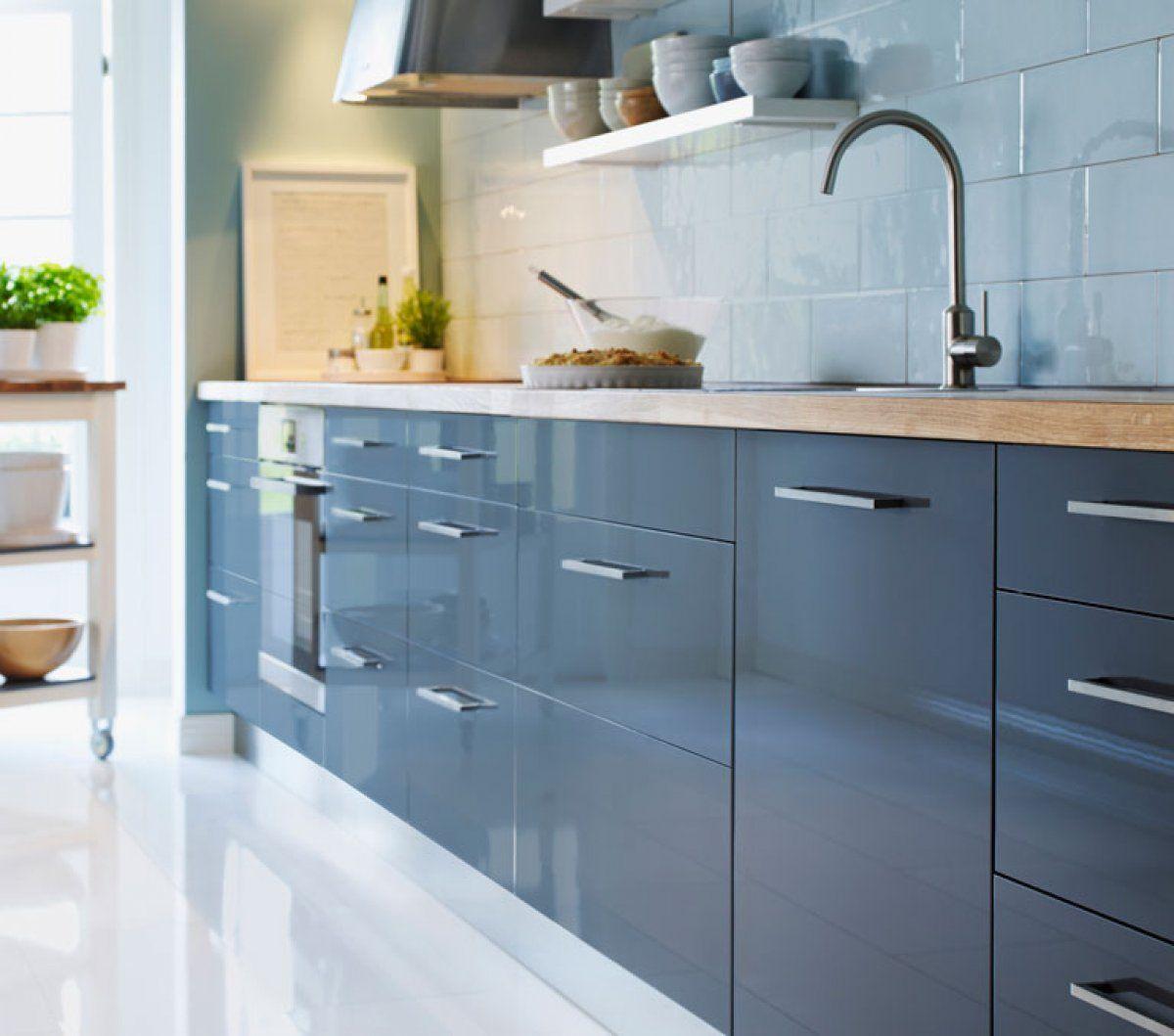 Kuche Abstrakt Von Ikea Mit Neuer Front Kuche Kuche Blau