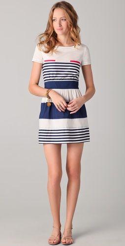 sleeved stripe dress