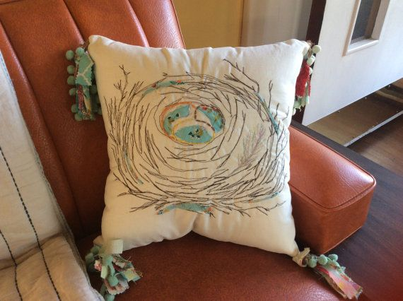 Hey, I found this really awesome Etsy listing at https://www.etsy.com/listing/287195057/birds-nest-throw-pillow-accent-pillow