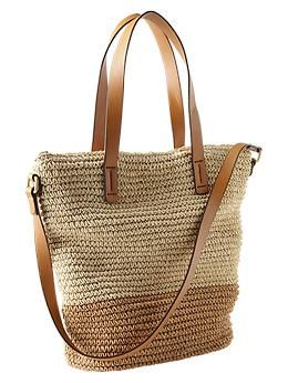 GAP - Colorblock Straw Tote