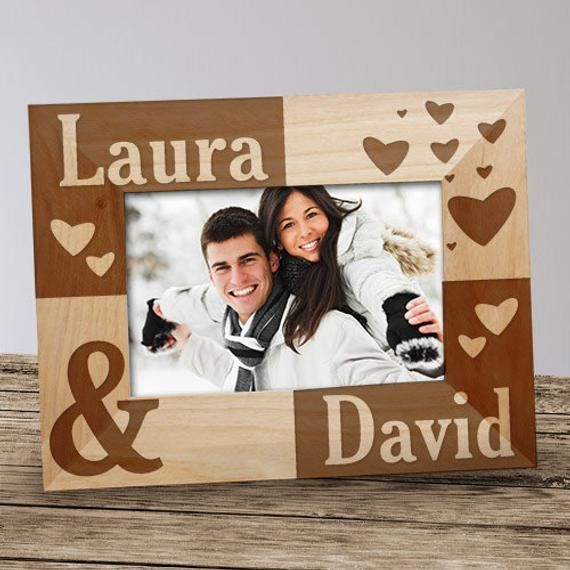 Image result for valentine day engraved wooden photo frame