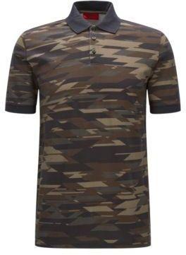 9792b2756 HUGO BOSS Camouflage Piqué Cotton Polo Shirt, Regular Fit Dacoby XSGreen