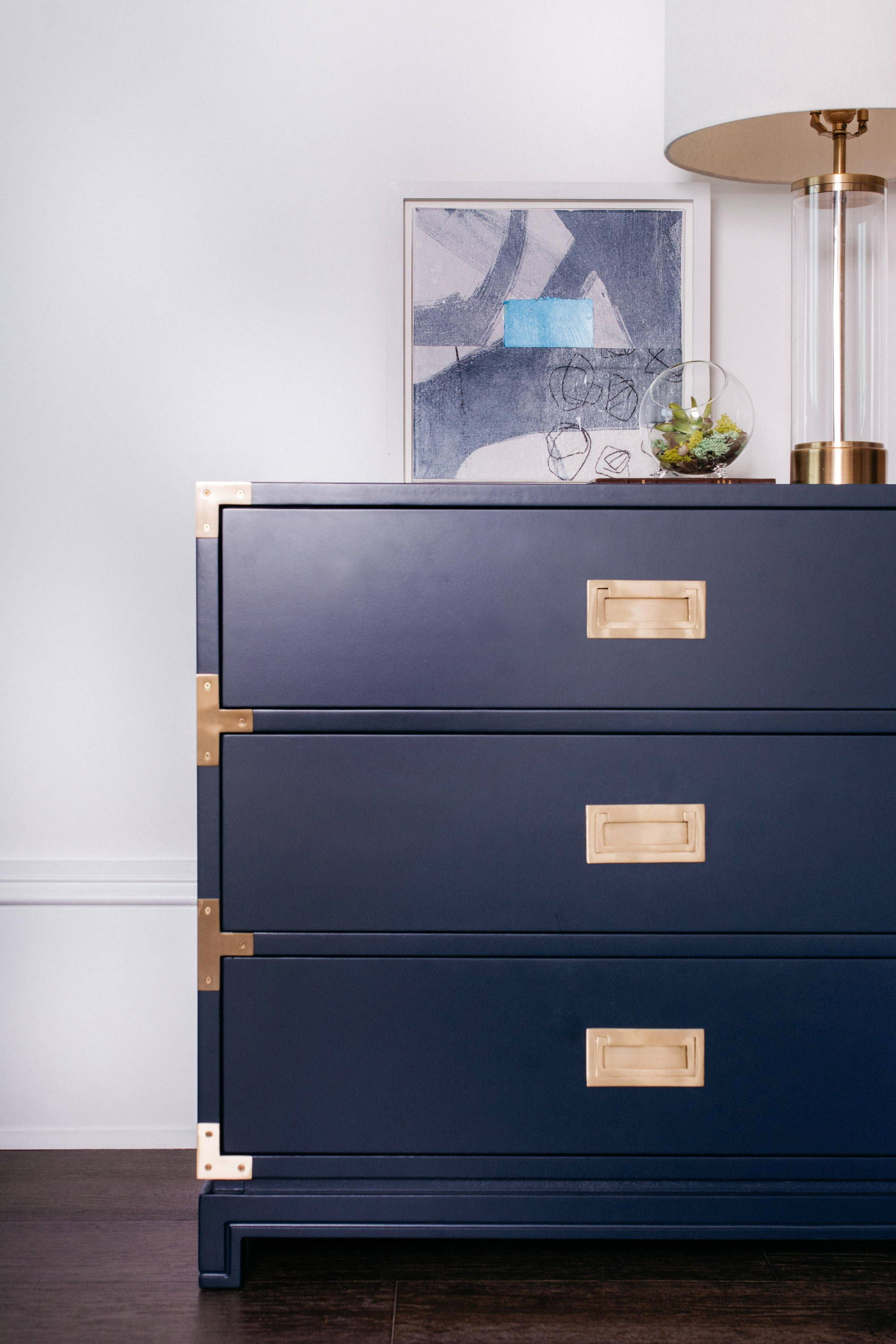 Small Carlyle Campaign Dresser Navy In 2020 Campaign Dresser