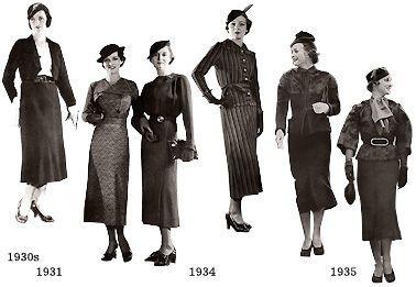 1940年代の装い・海外01 : むかしの装い | 1930 年代ファッション ...
