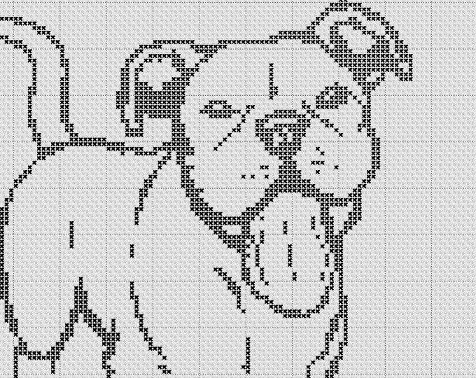 French Bulldog Silhouette Small Cross Stitch Pattern 1