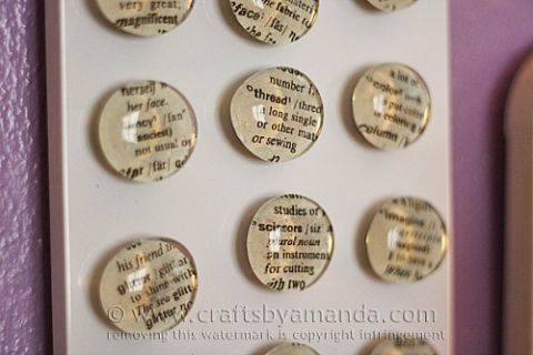 10 Awesome Book Page Projects: dictionary page word magnet craft