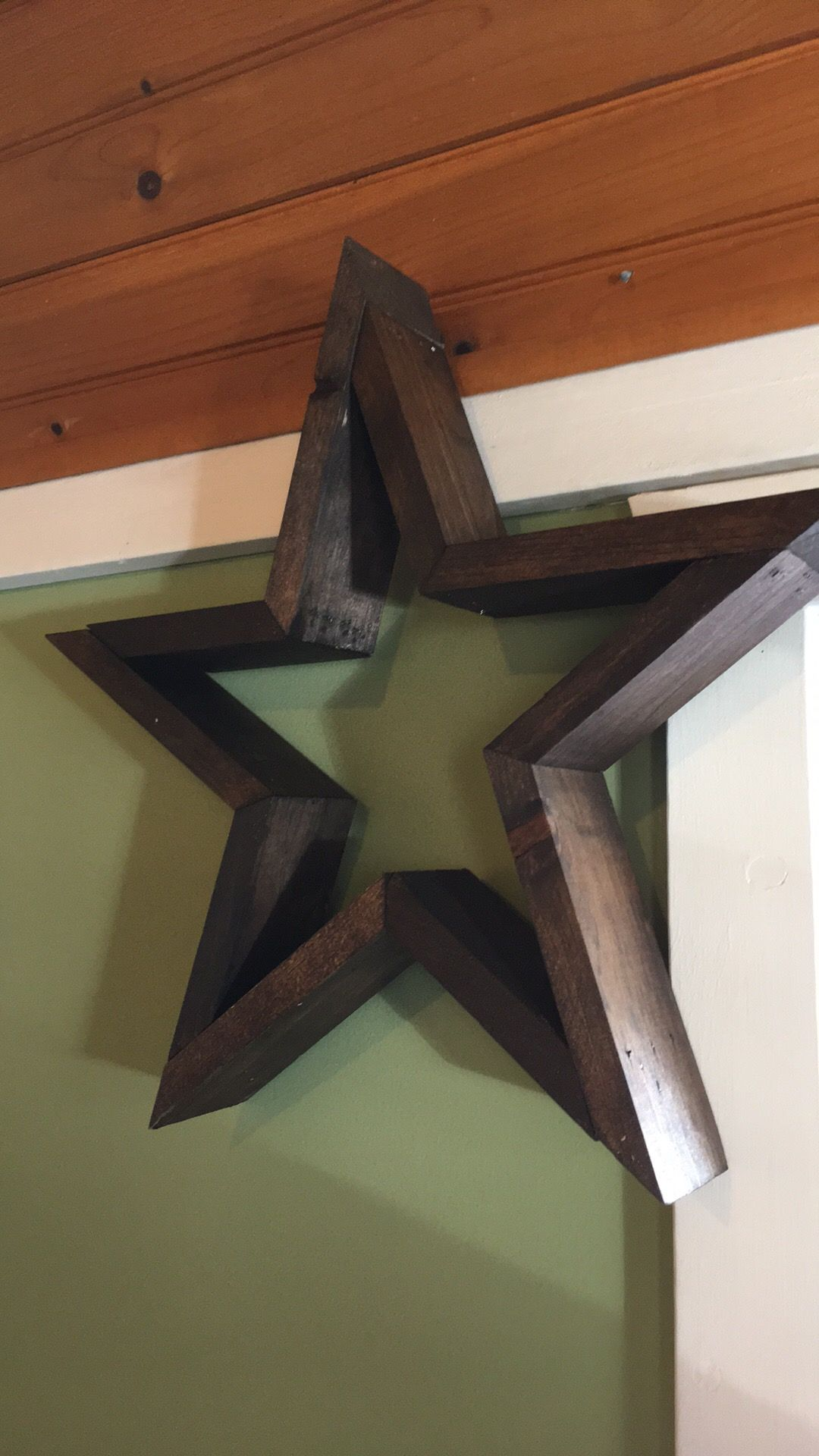 Rustic Wooden Star Country
