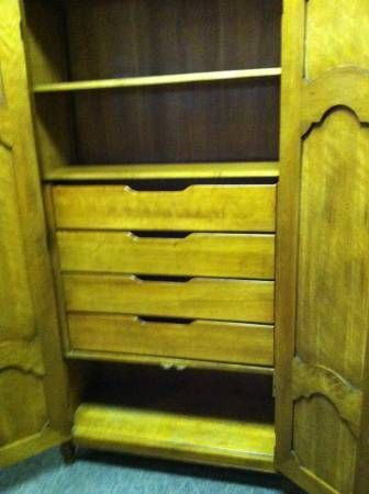 Antique Armoire  Wardrobe Of Cherry Built By Baker Furniture Co.