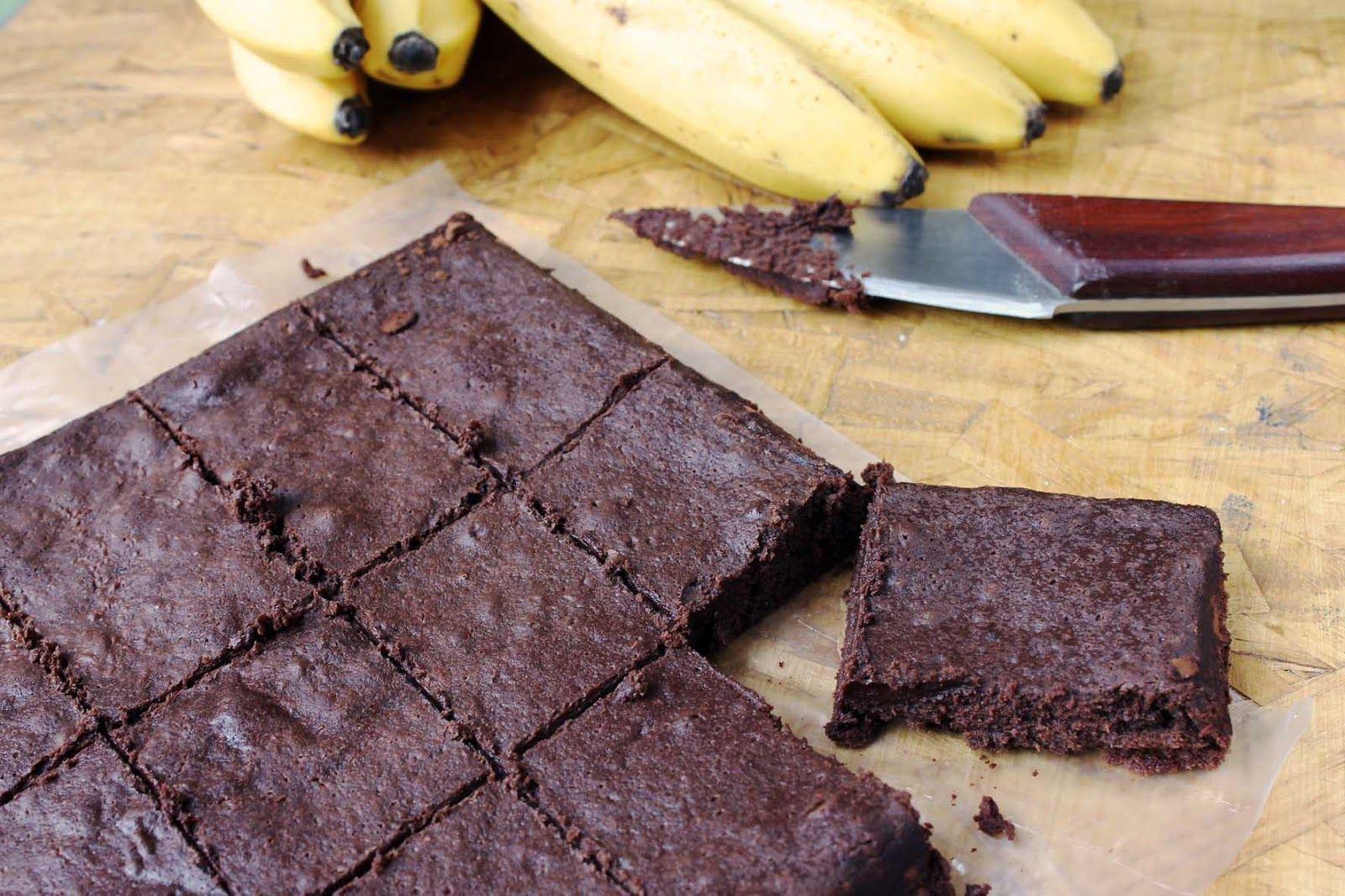 brownie celiacos banana sin tacc chocolate sin manteca
