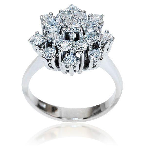 Brilliant Ring Whitegold Brillantring Mit 1 686ct Brillanten In 585