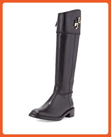 ee4de9e7b2ec87 Tory Burch Lowell Logo Equestrian Leather Riding Boot Size 8.5 - Boots for  women ( Amazon Partner-Link)