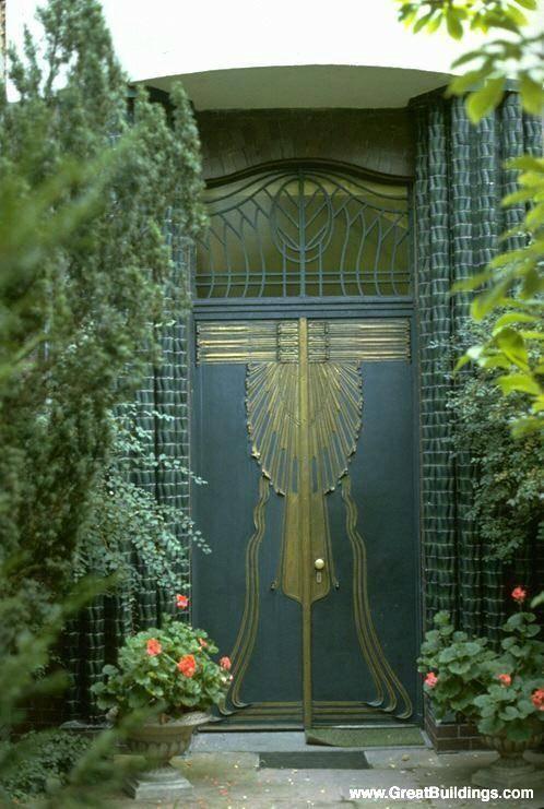 Art Nouveau: Behrens House Doors; designed by Peter Behrens; 1901.