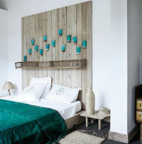 Hout hoofdeinde bed slaapkamer pinterest hoofdeinde hout en zoeken - Decoratie volwassen kamer zen ...