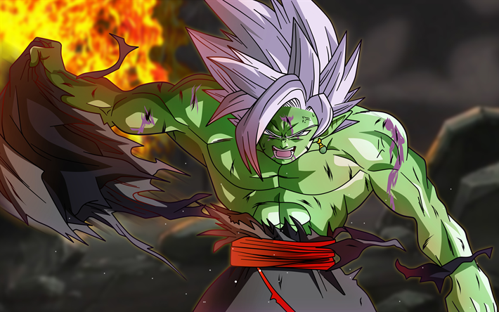 Download Wallpapers Zamasu 4k Dbs Fan Art Fire Fused Zamasu