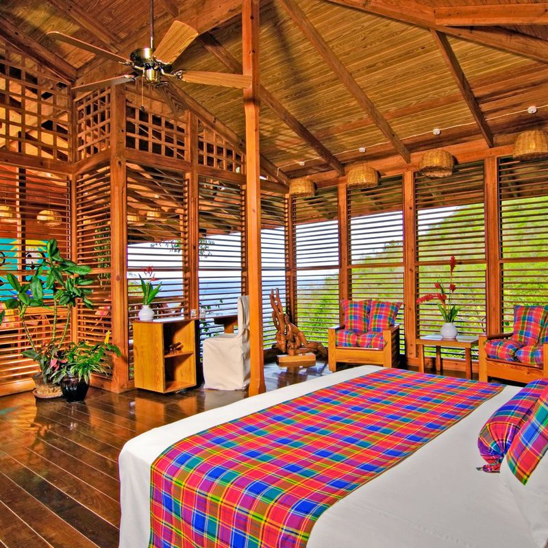 Anse Chastanet Soufriere, Caribbean chair leisure room Resort amusement park eco hotel colorful furniture several