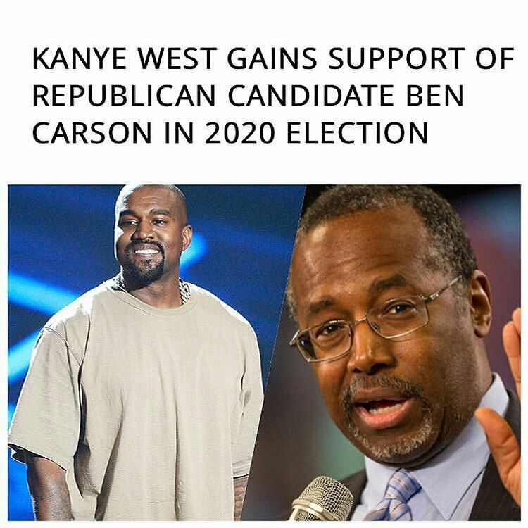 Kanye called Ben Carson a Genius #WTF